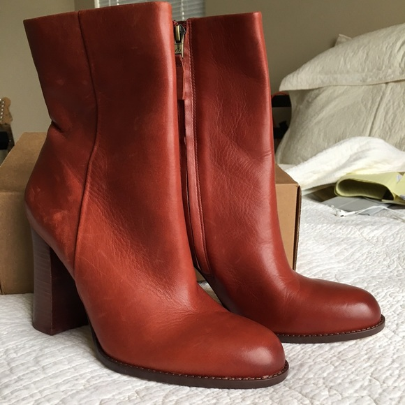 693fdd91cbe546 Sam Edelman Reyes Red Brown Boots.